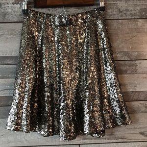 Xhilaration gold sequins skirt girls XS